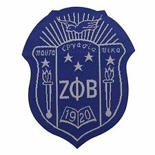"G941 Zeta Phi Beta Woven Shield Emblem Patch 2"""