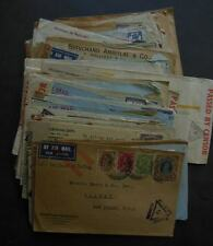 INDIA : Nice collection of 76 WWII Censored covers to USA. Many w/nice markings.