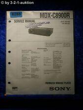 Sony Service Manual MDX c8900r Mini Disc Player (#6288)