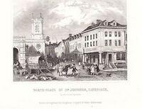 1840 Vittoriano Stampa ~ Birth-Place Di Dr Johnson Lichfield Staffodshire