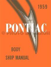 1959 Pontiac Body Shop Manual 59 Bonneville Catalina Star Chief Repair Service