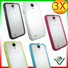3X BUMPER ultra sottile trasparente p Samsung Galaxy S4 SIV i9505 custodia i9500