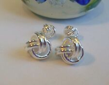 Thick 925 sterling silver plated/filled 3 luckly rings cufflinks
