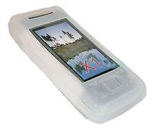 Silikon TPU Handy Cover Case Hülle Schale in Weiß für Sony Ericsson Xperia X1