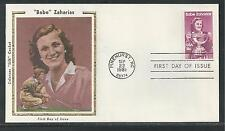 """# 1932 """"BABE"""" ZAHARIAS, ATHELETE Colorano """"Silk"""" Cachet, 1981 First Day Covers"""