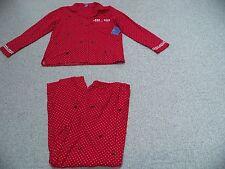 New Laura Scott 1X Cotton Flannel Pajamas. Black Bows & Polka Dots. 2 PC. Set.