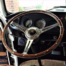 """Wolfsburg Steering Wheel T2 Wood Rim Bay Window VW Late Bus Camper 17"""" AAC185"""