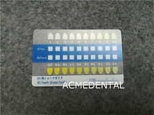 2 Pcs Dental Teeth Whitening Shade Color Guide Tooth Bleaching Comparison Chart