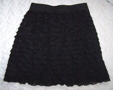 GIrls Size M (7-8) Black Ruffle Skirt