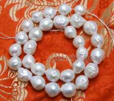 """10-13mm White Round Natural Edison PEARL Beads for Jewelry Making Strands 14"""""""