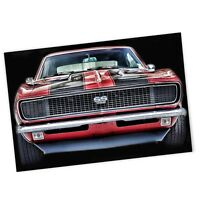 1968 Red Chevrolet Camaro SS Muscle Car 4x6 Inch Magnet