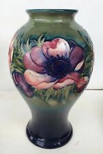 Large, Colorful William Moorcroft Signed Anemone Vase, c. 1947