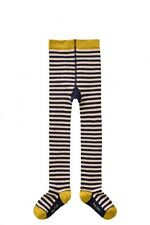 Nwt Room Seven 7 Navy Stripe Warm Tights Size 10 140