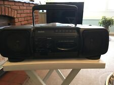 SANYO Z1 Retro 1990's CD Tape Radio Ghetto Blaster Boombox Cassette Tested