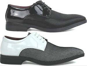 Men New Pointy Toe Lace Up Patent Formal Shoes UK Size 6-11