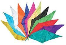 12 - Diamond Cut Silks - Assorted colors for magic tricks