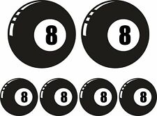 8 Ball Sticker set Car Van Motorbike scooter Vdub Beetle Camper Vespa Decal