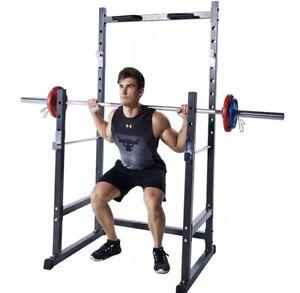 Full Body Multi Gym Barbell Squat Racks Bench Press Home Frame Pull-ups Fitness