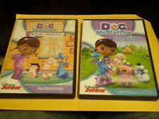 (2) Doctora Juguetes De Disney Junior Dvd Lote: amistad & la Escuela de Medicina