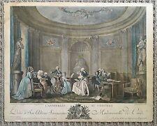 L' Assemblée au Concert (A Gathering at a Concert) Engraving Dequevauviller 1784