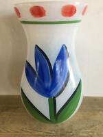 "Kosta Boda Large 11"" Tulip Tulipa Vase Excellent Signed Label"