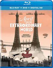 April & The Extraordinary World - 2 DISC SET (2016, REGION A Blu-ray New)
