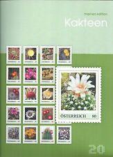 AUSTRIA ÖSTERREICH STAMPS SET KAKTEEN CACTUSES FLORA FLOWERS BLUMEN