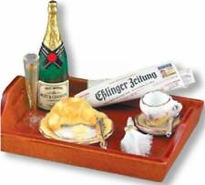 Dollhouse Miniature Champagne Breakfast Set by Reutter Porcelain