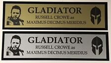 Gladiator Russell Crowe Maximus Nameplate for signed Movie poster photo