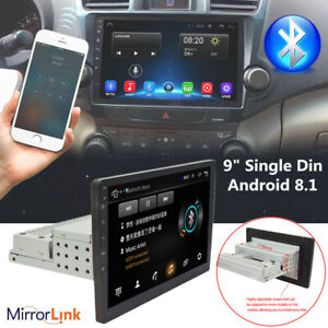 "9"" Single Din Android 8.1 Car Stereo GPS Video WiFi MP5 Player Height Adjustable"