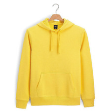 plain yellow hooded sweatshirts | eBay