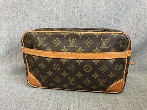 Authentic Louis Vuitton Clutch Compiegne 28 M51845 Browns Monogram