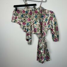 California Dynasty Robe Cami and Shorts Set Floral Size Large