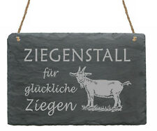 Schild Ziegenstall - 22x16 glückliche Ziegen - Ziege Türschild Bauernhof Hirte