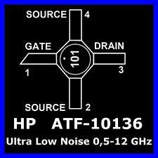 X-ceramicfet (50 X) RF transistor atf-10136 Ultra Low Noise NF 0,4db 0,5-12ghz