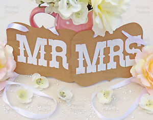 Mr and Mrs Wedding Photo Prop Decoration Bunting Banner - In Black or Vintage