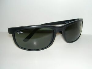 New RAY BAN Sunglasses PREDATOR 2 Matte Black RB 2027  W1847  G-15 Glass Lenses