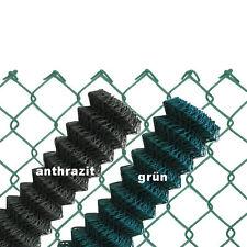 Maschendrahtzaun GRÜN  ANTHRAZIT 60x2,8x2000 Viereckgeflecht Maschinengeflecht