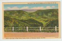 Unused Postcard Devils Saddle on US Route 50 West Virginia WV Nancy Hanks Born