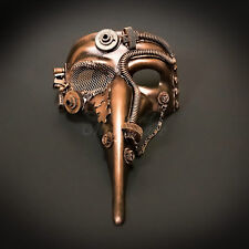 Steampunk Plague Doctor Theater Masquerade Mask for Men - Metallic Copper M39029