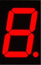 "*FCB USA 1 pc single digit 1.8"" Height 7-segment Common Cathode LED"