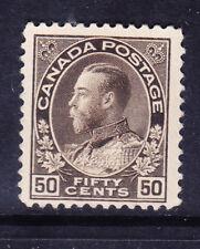 Canada 1911 Edoardo VII SG215 50 C nero di seppia-leggermente montato Nuovo di zecca. catalogo £ 50