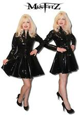 MISFITZ BLACK  PVC MISTRESS SKATER SWING DRESS SIZES  8 - 32 OR MADE TO MEASURE