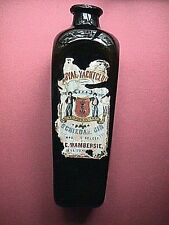 Footed Case Gin Flared Lip 80% Paper Label Collectible Bottle