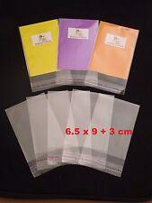100 CELLOPHANE BAGS - 6.5 cm x 9 cm +3 cm lip - SELF SEAL - Free Postage