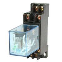 HH52P DC 24V Coil DPDT 8 Pins Electromagnetic Power Relay with DYF08A Base N3