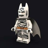 LEGO Custom UV Printed SDCC 2019 Inspired Zebra Batman Minifigure Minifig NEW