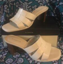 Liz Claiborne Cream Slides, sz: 10M