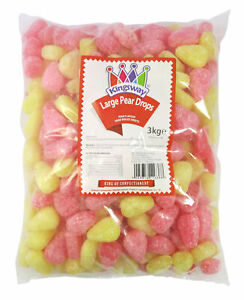 Large Pear Drops Boiled Sweets Pick n Mix Candy Retro Party Treats Halal