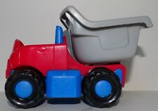 Fisher Price Little People 2002 Red & Blue Dump Truck Construction Vehicle